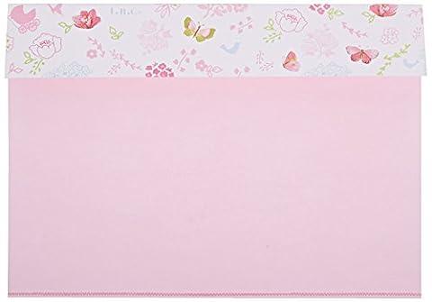 Mara-mi Rose Papillon et fleur Peek-A-Boo Imprintable Invitation, 10-count (/robot ménager)
