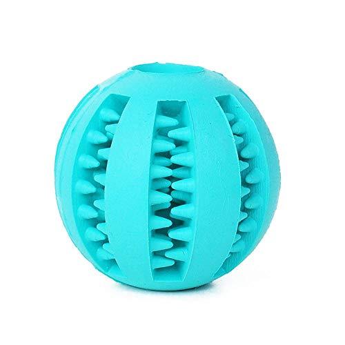 LOSVIP Einfarbig Hundespielzeug Zähne putzen Food Hide Ballspielzeug Hund Interactive Gummi Undichtes Gerät(hellblau,Freie Größe)