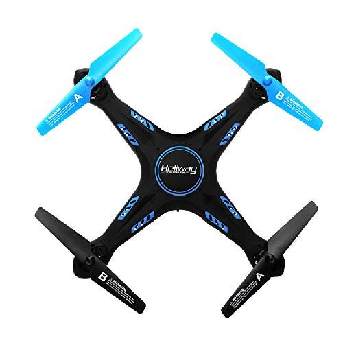 ILYO Drohnen Mit Einer Kamera-Luft-Drohne Vier-Achsen-Flugzeug HD-Luftfotografie Echtzeit-Bild-Übertragungswiderstand Drohne Kopflosen Modus One-Button Rise Anti-Card-Todes Schutz,Blue