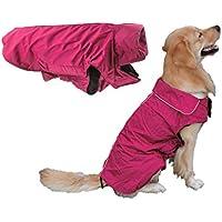 Resistente al agua perro perros grandes abrigo de invierno forrado Perros Chaqueta Abrigo de Lluvia Invierno calientes ropa ropa de perro XL XXL XXXL