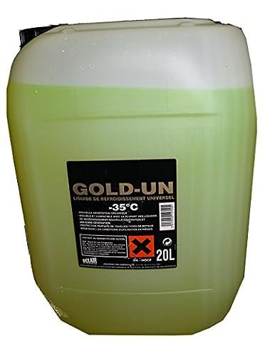 Liquide de refroidissement permanent universel gold -35°c jaune - Bidon 20 litres