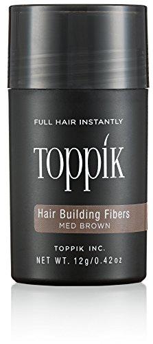 Toppik Hair Building Fibers 12g with Spray Applicator and Optimizer (Medium Brown)