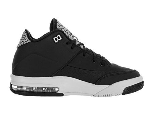 Nike Jordan Flight Origin 3 Bg, espadrilles de basket-ball garçon Noir (Black (noir / argent métallisé-platine pur))