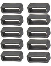 Sharplace 10 Piezas Bucle Retenedor de Silicona para Reloj Banda Correa 10 / 12 / 18