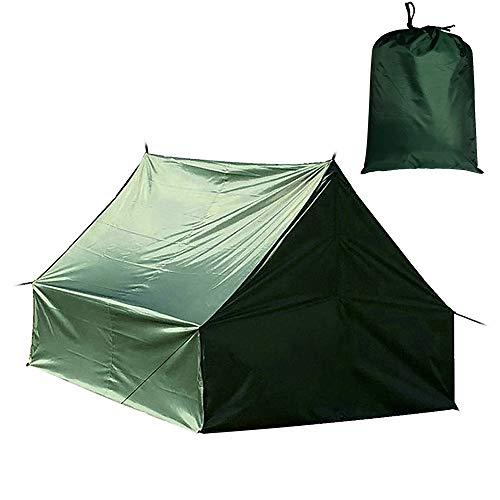 Festnight Multifunktionales Campingzelt Hängematte Regenfliege Wasserdichte Plane Ripstop Regen Abdeckung Boden Teppich Baldachin Outdoor Ändern Shelter