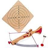 Small Foot Company 5035 - Ballesta, diana y flechas de madera con ventosa [importado de Alemania]