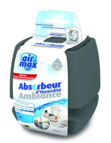 UHU Luftentfeuchter Ambiance, Bekämpft Feuchtigkeit und Schimmel in Wohnräumen von bis zu 50 m³, 500 g, anthrazit