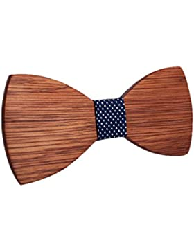 KOOWI La Corbata de Madera Hecha a Mano del Lazo de Madera de Los Hombres Creativos Handcrafted para la Boda o...