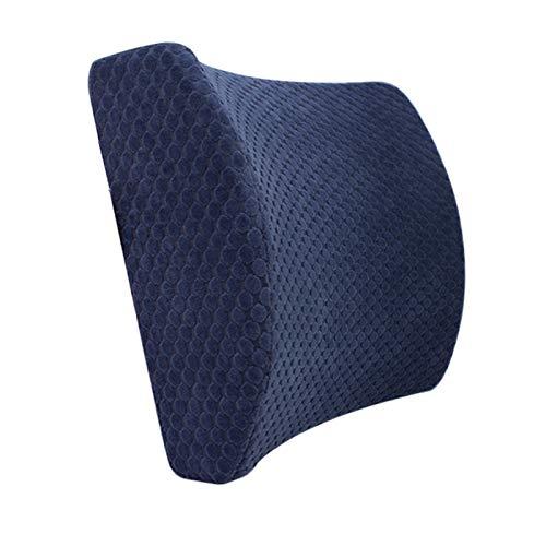 YSCCSY Autositz Sattel Form Fahrkissen Gedächtniskissen Lendenwirbelsäule Schützen Kissen Bürostuhl Rücken Taille Pad, 33 * 31 * 10 cm