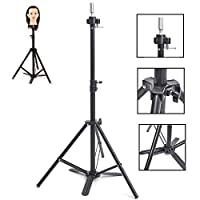 HAIREALM Adjustable Tripod Stand Holder Hairdressing Training Head Mold Mannequin Holder With Carrying Bag ESJJ