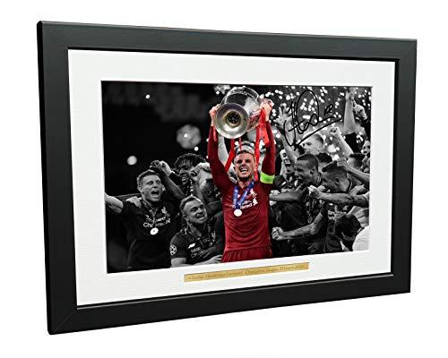 Kitbags & Lockers 2019 Champions League Win Foto, 30,5 x 20,3 cm, A4, signiert, Liverpool Jordan Henderson (Foto Locker)