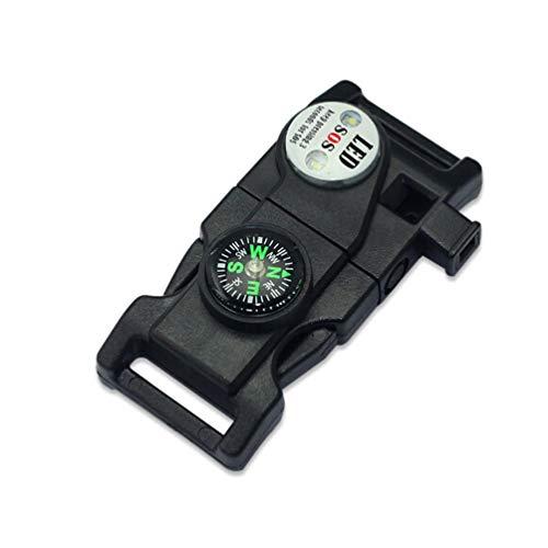 Sforza Plastik Pfeife Quick Release Buckle Multi-Tool Mit Kompass Outdoor Karabiner Whistle Paracord Survivor Multifunction Outdoor