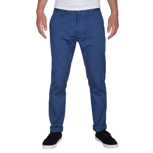 Pantalon Volcom Frickin Skinny Chino - Smokey Blue-Bleu Bleu