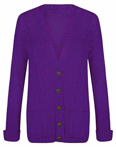 Islander Fashions - Gilet - Femme Violet