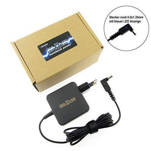 MTXtec Netzteil, 19V, 2.37A, Stecker rund 4.0x1.35mm (45W - EU) hochwertiger Ersatz für ASUS ADP-45AW passend im ASUS Zenbook UX31A Serie und Ultrabook Zenbook UX21A UX32A UX32VD UX42A UX52A UX310UA