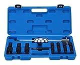 FreeTec Set de 9 extracteurs de roulement intérieur Jeu de marteaux coulissant Jeu d'adaptateurs de 8 à 32mm.