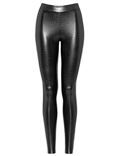Wolford Bonnie Cocco Leggings, Hose, Leggings in Lederoptik mit Kroko-Prägung, schwarz (38) (Wolford Leggings)