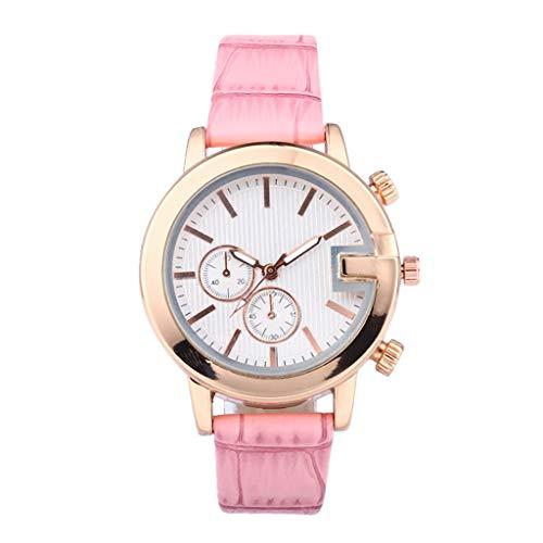 2019 Damen Armbanduhr, Mode Uhr Einfach Beiläufig Kreativ Geschenk Quarz Anolog Uhren Watch, Armbanduhr Frauen Rot (Einfach Kreative Kostüm Männer)