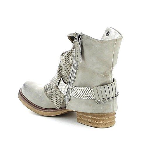 """Boots """"destroyed"""" texturée Beige"""
