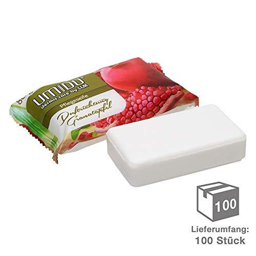 100 x UMIDO Seife 80 g Granatapfel - Hand-Seife - Waschstück - Seifenstück für ihre Körperpflege - Festseife - 100 x 80 g (11.)
