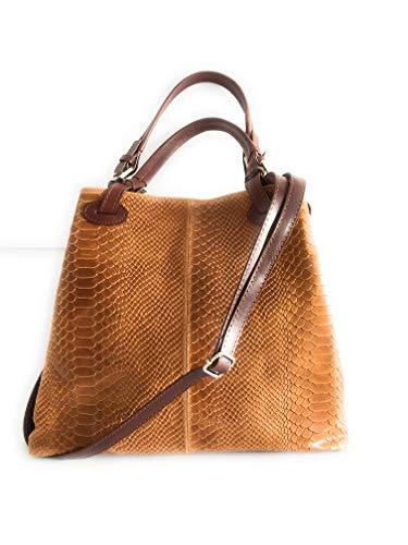 MASSIMA BARONI - Vivara Modell. Damenhandtasche aus echtem Leder. Italienisch Ledertasche mit...