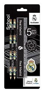 Real Madrid - Set de papelería con 5 Piezas, 24 x 10 cm (Mercury 25RM596)