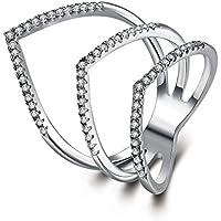 Celtic Arrow - Anillo de eternidad abierto de 18 K chapado en oro cristal austriaco