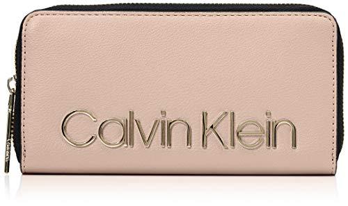 Calvin Klein Damen Ck Must Lrg Ziparound Geldbörse, Pink (Nude), 2x10x19 cm - Pink-münzen-geldbeutel-schlüsselanhänger