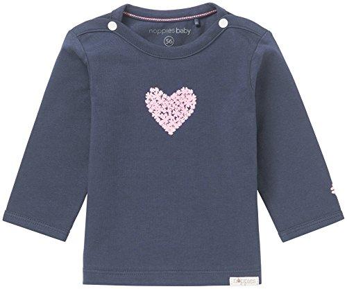 Navy Tee (Noppies Baby-Mädchen Langarmshirt G Tee LS Natick-67369, Blau (Navy C166), 74)