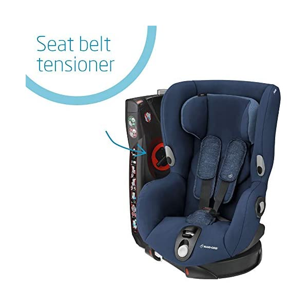 Maxi-Cosi Axiss Toddler Car Seat Group 1, Swivel Car Seat, 9 Months-4 Years, Nomad Blue, 9-18 kg Maxi-Cosi Toddler car seat, suitable from 9 months to 4 years (9 - 18 kg) Swivels 90 degree degrees allows for front-on access to get your toddler in and out of the car more easily Maxi-Cosi Axiss car seat has 8 comfortable recline positions 3