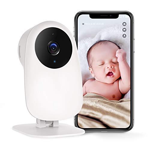 WLAN Kamera IP Kamera Nooie Überwachungskamera 1080P Indoor mit App Bewegungserkennung Nachtsicht Smart Home Haustier Babyphone Kamera 2 Wege Audio Cloud Service, kompatibel mit IOS/Android