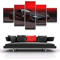 Arte de la pared imagenes Canvas poster impreso pintura Home Decor 5 Grupo rojo coche deportivo negro HD Foto decoracion habitacion de niños