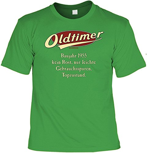 Jahrgangs/Geburtstags-Shirt/Party-Shirt: Oldtimer Baujahr 1955 - kein Rost, nur leichte Gebrauchsspuren, Topzustand. Hellgrün