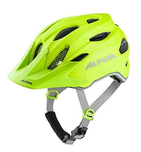 Alpina Sport Kinder Jugend Fahrradhelm Carapax JR. Flash be Visible 51-56 cm