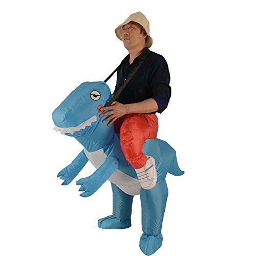Kostüm Dinosaurier Tanz - WYAJZHA Dinosaurier Mounter, Aufblasbarer Anzug, Party Für Erwachsene, Tanz, Spaß, Sport, Lustiges Kostüm