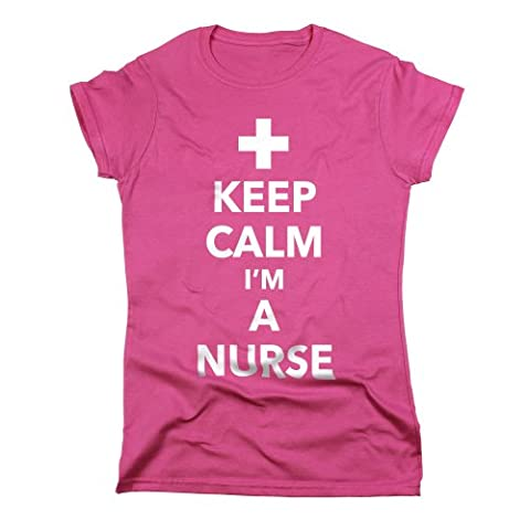 Nutees Keep Calm I'm A Nurse Funny Cool Womens T