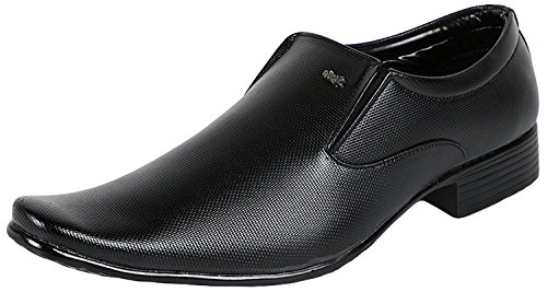 Kraasa Men's Black Formal Loafers - 7 UK