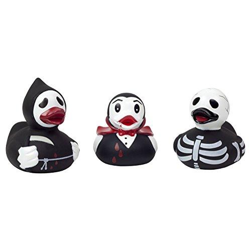 alloween Gruseln: Sensemann Skelett und Dracula Ente Gummiente (Halloween-gummi-ente)