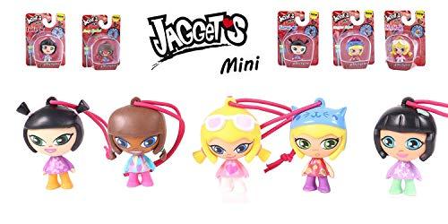 Jaggets - Pack 5 muñecas Jaggets mini con cuerda para colgar de 4cm en blisters (Famosa 700014035)
