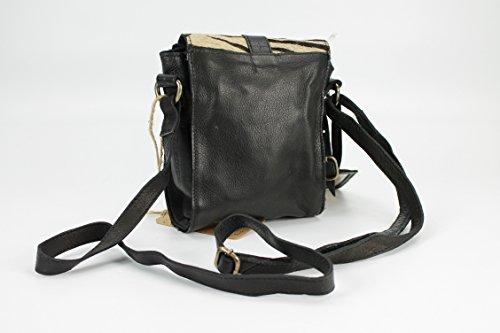 Cowboysbag, Borsa a tracolla donna marrone marrone 17x19x6 cm (B x H x T) Zebra