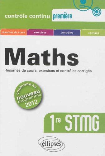 Maths Première STMG Conforme au Program...