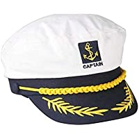 Yililay Gli Uomini del Marinaio Capitano Cappello da Marinaio Cappello  Ricamato Cappello Registrabile Navy Capitano Costume f63d611be97c
