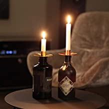 Bada Bing 2er Set Kerzenhalter Metall Nordic Schwarz Kupfer Stabil Kerzenst/änder Kerzenleuchter 68