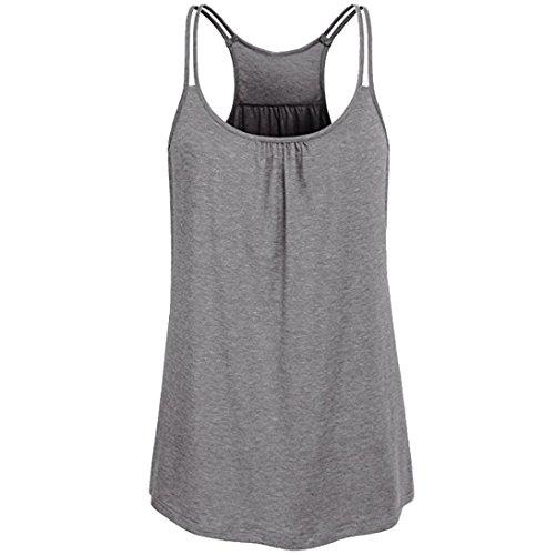 Btruely Tank Top Damen Viele Größen Verfügbar Regelmäßige Sommerweste Shirt Tops Elegant Oberteile Plus Size T-Shirts (Regelmäßige Mischung)