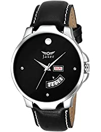 Jaxer Day And Date Black Dial Analog Watch For Men& Boys - JXRM2104