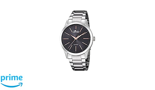 90016f97e218 Lotus Watches Mens Analogue Classic Quartz Stainless Steel Strap 15959 9   Amazon.co.uk  Watches