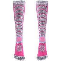 Sharplace Calcetines de Esquí Térmico de Invierno Deporte Al Aire Libre Lavable Sudor Absorbente - Mujeres Rose Red