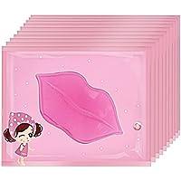 BEETEST Membrana de labios hidratante labios película pasta labio abundancia belleza maquillaje accesorios belleza rosa labio Gel máscara cuidado máscara membrana de colágeno (10 pieza)