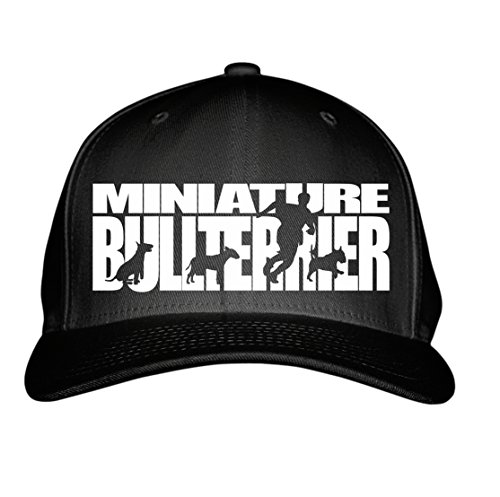 SIVIWONDER CAP - MINIATURE BULLTERRIER Bull Terrier MINI -HUNDESPORT HS - Baumwoll 6-Panel schwarz