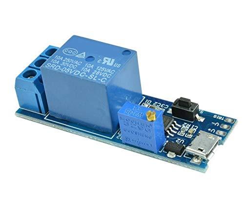 Low-voltage-switch (haoyishang breit Spannung 530V Netzteil Einstellbare Trigger Delay Time Relay Modul Timer Switch Low Level Trigger mit Micro-USB-Anschluss)